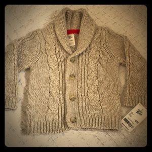 NWT- OshKosh B'gosh, Cable Knit Collar Cardigan